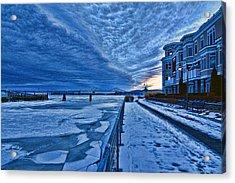 Ice Station Hudson Acrylic Print by Jeffrey Friedkin