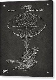 Icarus Airborn Patent Artwork Gray Acrylic Print