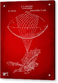 Icarus Airborn Patent Artwork Red Acrylic Print