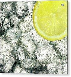 Ice And Lemon Acrylic Print by Anthony Bradshaw