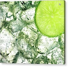 Ice And Lime Acrylic Print by Anthony Bradshaw