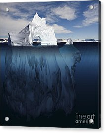 Ice Arch Iceberg Acrylic Print by Bryan and Cherry Alexander