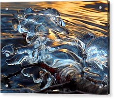 Ice At Sunset Acrylic Print by Dianne Cowen