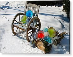 Acrylic Print featuring the photograph Ice Ball Art by Nina Silver