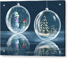 Ice Balls Acrylic Print by Veronica Minozzi