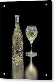 Ice Bottle And Glass Acrylic Print by Hakon Soreide