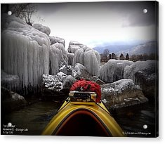 Acrylic Print featuring the photograph Ice Cathedral - November Ice by Guy Hoffman