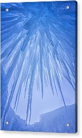 Ice Cave Acrylic Print by Darren  White