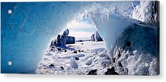 Ice Cave On A Polar Landscape, Gigja Acrylic Print by Panoramic Images