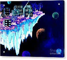 Ice City In Space Acrylic Print