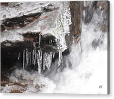 Ice Cold Creek In Colorado Acrylic Print