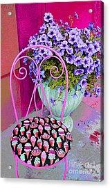 Ice Cream Cafe Chair Acrylic Print by Nina Silver