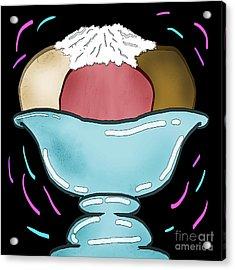 Ice Cream Acrylic Print by Jose Benavides
