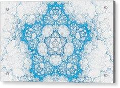 Acrylic Print featuring the digital art Ice Crystals by GJ Blackman