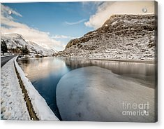 Ice Curve Acrylic Print by Adrian Evans