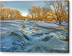 Ice Falls 2 Acrylic Print by Baywest Imaging