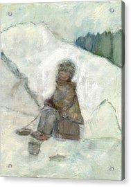 Ice Fishing Acrylic Print