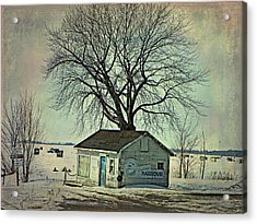 Ice Fishing  Acrylic Print by Dianne  Lacourciere