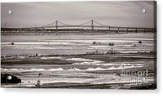 Ice Fishing On The Saint Lawrence River Acrylic Print