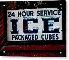 Ice For Sale Acrylic Print by Steven Parker