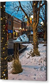 Ice Fountain Acrylic Print by Baywest Imaging