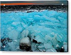 Ice Freeze # 2 - Horsey Bay - Kingston - Canada Acrylic Print