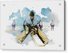 Ice Hockey Acrylic Print by Corporate Art Task Force