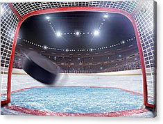 Ice Hockey Goal Acrylic Print by Dmytro Aksonov