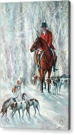 Ice Hounds Acrylic Print by Robyn Ryan
