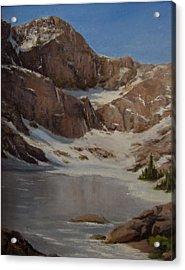 Ice Lake - July  Acrylic Print by Mar Evers