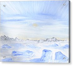 Ice Movement Acrylic Print
