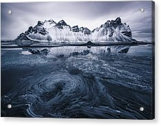 Ice On Stokksnes Acrylic Print