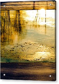 Ice On The River Acrylic Print by Bob Orsillo