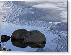 Ice Out At Pumice Point Acrylic Print