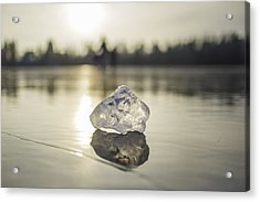 Ice Puck On Little Rock Lake Acrylic Print