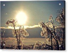 Ice Reflection Acrylic Print by Dawdy Imagery