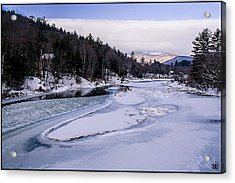 Ice River Acrylic Print by Christine Nunes