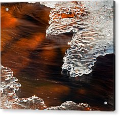 Ice Sculpting  Acrylic Print by Eric Rundle