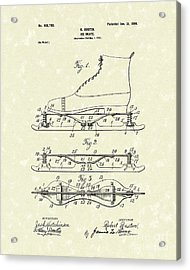 Ice Skate 1899 Patent Art Acrylic Print by Prior Art Design
