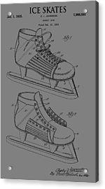 Ice Skate Patent Acrylic Print