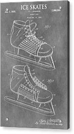 Ice Skates Patent Acrylic Print