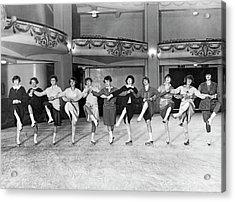 Ice Skating Ballet Troupe Acrylic Print