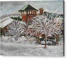 Ice Storm In Montana Acrylic Print