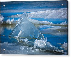 Ice Triangle Acrylic Print by Inge Johnsson