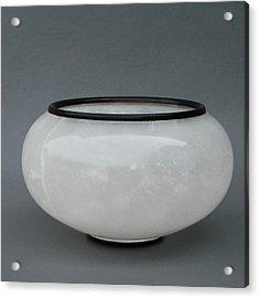 Ice Vase Acrylic Print by Leslie Dycke