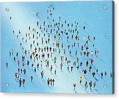 Ice Walking Acrylic Print by Neil McBride