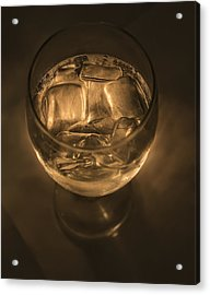 Ice Water By Candle Light Acrylic Print by Angela A Stanton