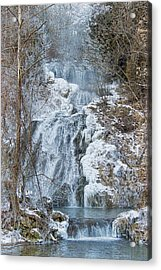 Ice Water Acrylic Print by Kathy Jennings