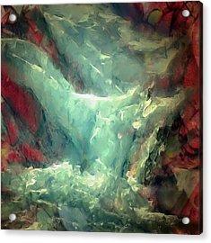 Ice Waterfall Acrylic Print by Danielle Arnal