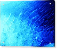 Ice Wave Acrylic Print by Christian Rooney